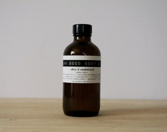Damn Good Body Oil // Citrus + Sandalwood -- 100% natural • nourishing • hydrating • body or massage oil