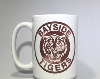 Bayside Tigers Coffee Mug! (Dishwasher & Microwave safe) Coffee mug, coffee cup, funny coffee mug, funny coffee cup, gift, Saved By The Bell