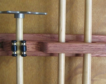 2 Pool Cue Rack with Bridge Clip