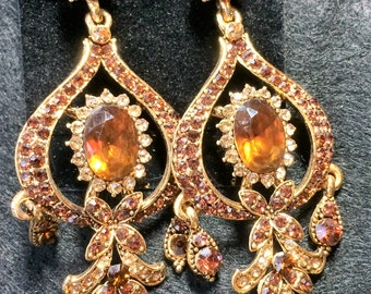 Topaz Pierced Earrings