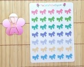 S199 - Color Bow Planner Stickers and Kate Spade Bow Paperclip Set