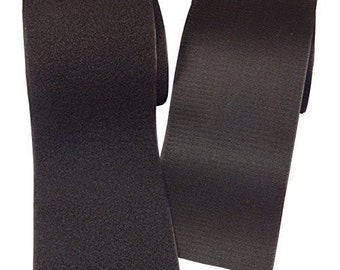 "4"" Hook and Loop Velcro MILSPEC Sew On or Glue On Color Black Velcro - 4 Inch X 1 Yard (36"") - Shipping FAST & FREE -"