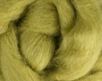 Lima Bean Corriedale Wool Roving One Ounce for Felting and Spinning