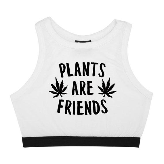 plants are friends bralet top crop t shirt bra bustier tank. Black Bedroom Furniture Sets. Home Design Ideas