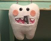 Tooth Fairy Pillow, Wool Felt