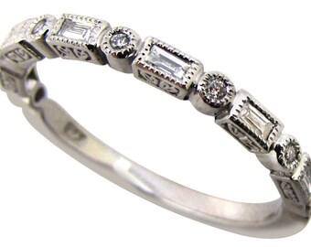 Diamond wedding band - white gold band / diamond band / engagement ring / diamond ring / wedding ring