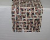 Flag Table Runner,  Holiday Decorations, Table Runner with Flags, Red White and Blue Table Runner, Flag Fabric