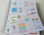 Planner Quotes 3  - set of 16 stickers perfect for Erin Condren Life Planner, Kikki K or Filofax Planner