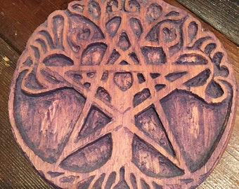 Lokai woden hand crafted tree of life from relcaimed wood NO SHIPPING COST
