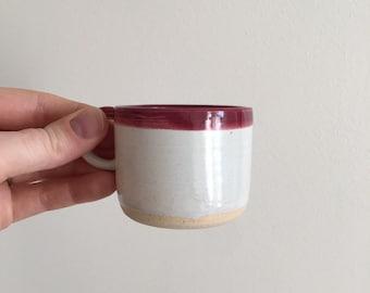 Red Espresso Cup, White Espresso Cup, Ceramic Espresso Cups, Coffee Lovers Cup, Small Espresso Cup