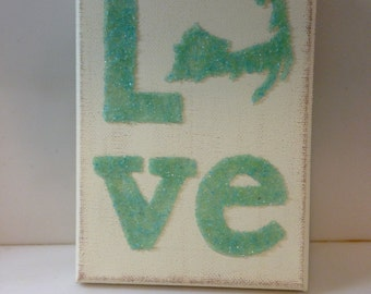 Cape Cod Art, Cape Cod Love Canvas, Cape Cod decor, custom signs, Cape Cod