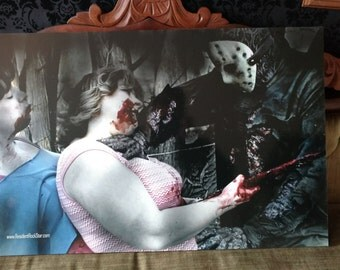 Friday the 13th Metallic mounted ready to hang print 20 x 30 in