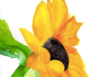 Sunflower Watercolor *Instant Download