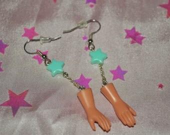 Doll Hand Earrings