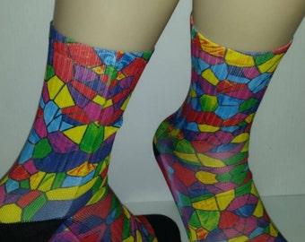 Custom Fruity Pebbles elite socks