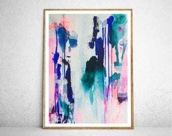 Abstract Art Print, Turn Your Magic On, Modern Abstract, Art Print, Giclee Art Print