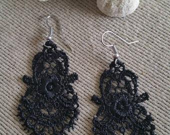 Chandelier Lace Dangle Earrings