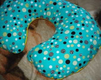 FREE SHIPPING Colored Polka Dots Boppy Cover/ Slipcover with Zipper