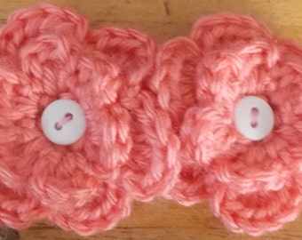 Double Flower Pink Barrette