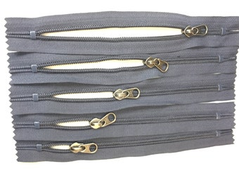 Navy YKK Zipper 8 inches #3 Nylon Double Closed Bottom Stops (1 Zipper)