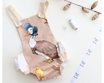 Jemima Puddle Duck Romper - baby romper - baby rompers for girls - baby shower - baby gift