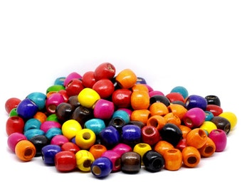 Wooden Beads 16 x 17mm, Hole is approx 8mm. 30/50/100 Gram Bag