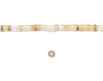 "Shell Beads, Gold Lip shell, Heishi Beads, Boho, Hippie, Beach Jewelry, 2 to 3mm, 16"" strand, D747"