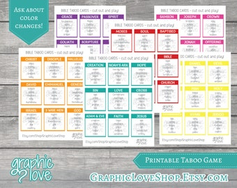 Printable Scripture Taboo Game 54 Cards | PDF, Instant Download, Print at Home