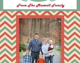 Rustic Christmas Card, Holiday Card, Christmas Card, Family Photo Christmas Card