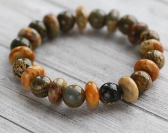 Agate bracelet, natural stone bracelet