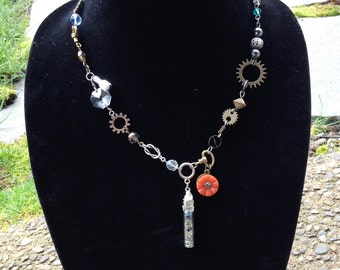 Quirky found object necklace