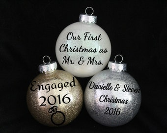 Glittered Christmas Ornament - Personalized Christmas Ornament