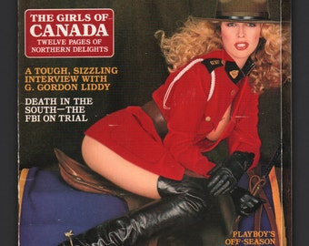 Mature Vintage Playboy Mens Girlie Pinup Magazine : October 1980 VG White Pages Intact Centerfold