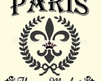 Paris Flower Market Stencil (12x12)
