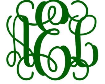 Monogram Iron On, Heat Transfer Monogram, Iron on Letters, DIY Monogram T shirt, Monogram initials
