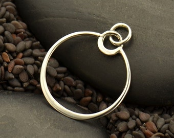 Sterling Silver Small Eclipse Pendant
