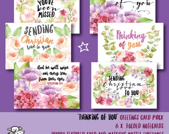 Thinking of You Six Card Pack - JW stationery.