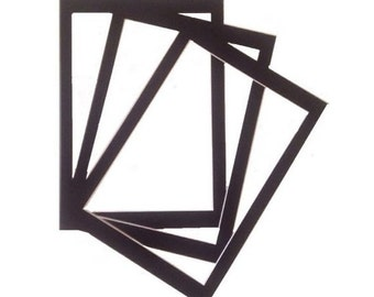 3 X A4 Picture Mount To Fit Vintage 7.5 X 10.5 Inch Dictionary Page Prints Black