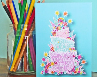 GBBO Inspired Showstopper Baking Cake Lover's Papercut Card - A6