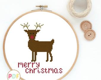 Modern Cross Stitch Pattern - Christmas