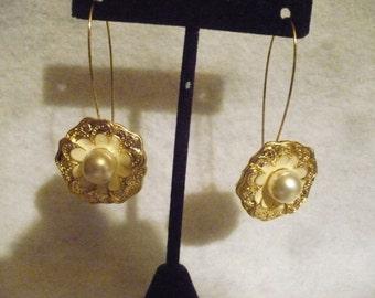 Floral treasure fantasy earrings