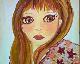 Lisette - Portrait girl-art contemporary-portrait-little girl