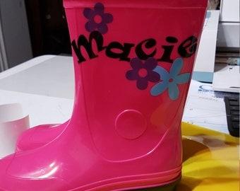 Personalized rain boots