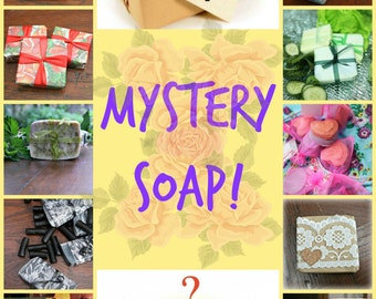 MYSTERY SOAP! Love surprises? Try our mystery soap! Handmade and vegan