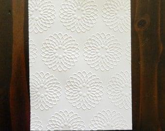 Flower Grid, Embossed Cardstock, Embossed Sheets, Embossed Card Fronts