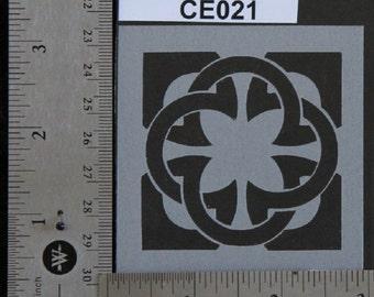 "Celtic Stencil 3"" x 3"", 7 mil - CE021"