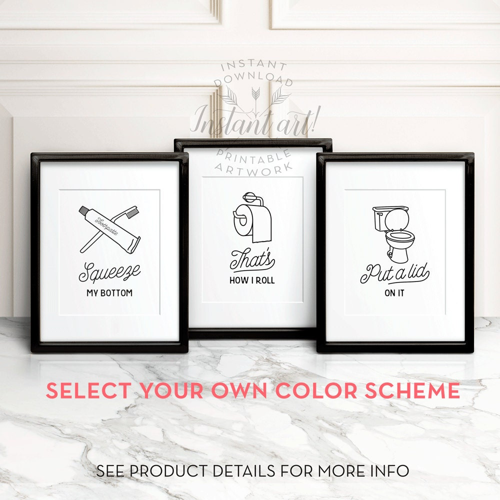 Bathroom wall art printables - Boys Bathroom Rules Bathroom Posters Funny Bathroom Decor Home Decor Art Wall