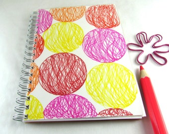 A6 notebook, upcycled paper, to do list notepad, spiral notebook, journal, recycled writing pad, sketchpad, recycled envelopes, eco-friendly