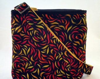 Handmade Crossbody Purse/Bag with Zipper Closure, Adjustable Strap, Inside Slip Pocket, Child Purse, Paula Nadelstern Fabric