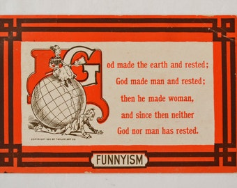 Antique Funnyism Postcard 1910